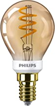 Philips LED Light Bulb Equivalent 15W E14, Warm White, Vintage Dimmable, Glass