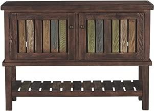 Ashley Furniture Signature Design - Mestler Console Table - Entertainment Center - Rustic Brown
