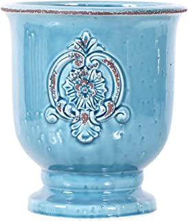 Little Green House Ceramic Light Blue Round Vase - XL