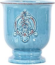 Little Green House Ceramic Light Blue Round Vase - XL