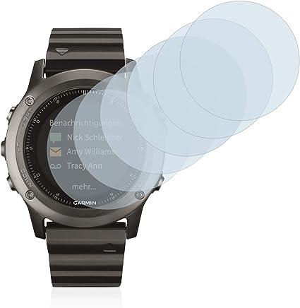 Savvies Protector de Pantalla para Garmin Fenix 3 [6 Unidades] - Transparente