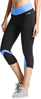 BALEAF Women's Yoga Running Workout Capri Legging Hidden Pocket Non See-Through Fabric