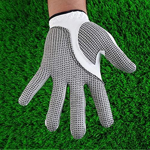 Tuzi Qiuge Golf-Handschuhe Herren, Herren-Golf-Handschuhe Linke Hand, Linke Hand Anti-Rutsch-Teilchen, Größe: 25 QiuGe