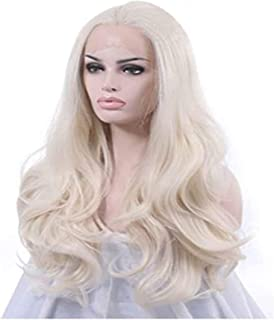 YYCHER Wig Female Front Lace Long Curly Hair Silver Gray Small Roll Long Hair Set Masquerade Dress Wig for Cosplay Party D...