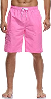 Vocanbomor Men's Quick Dry Swim Trunks Board Shorts with Mesh Lining Swimwear Bathing Suits