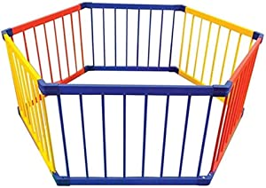 CXHMYC Portable wooden play barrier baby  child child safety barrier  panels  iridescent bed rails