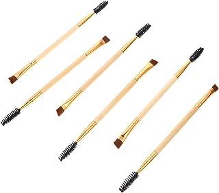 Lurrose 6 Peças Dupla Terminou Escovas Sobrancelha Pente Sobrancelha E Escova de Cílios Mini Escova para Eyeshadow Lip Sob...