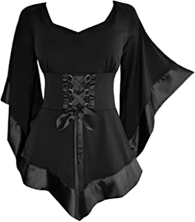 Dare to Wear Treasure Corset Top: Victorian Gothic Medieval Women's Courtly Tunic for Everyday Halloween Cosplay Festivals