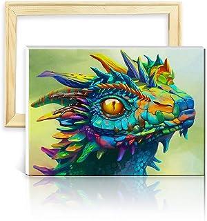 con Marco de Madera ufengke Kit Pintura de Diamantes 5D Lindo Gato Punto de Cruz Diamante Completo DIY para Amantes del Arte Dise/ño 25x35cm