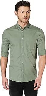 Dennis Lingo Men's Solid Dusty Green Casual Shirt