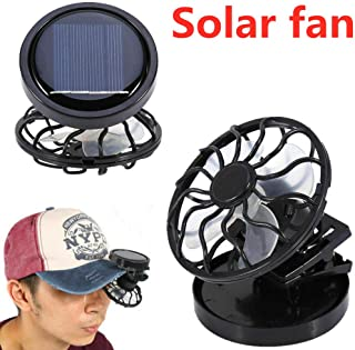 EGFHEAL Mini Solar Fan, Clip-on Hat Mini Clip Solar Sun Energy Power Panel Cell Cooling Fan Cooler Personal Fans