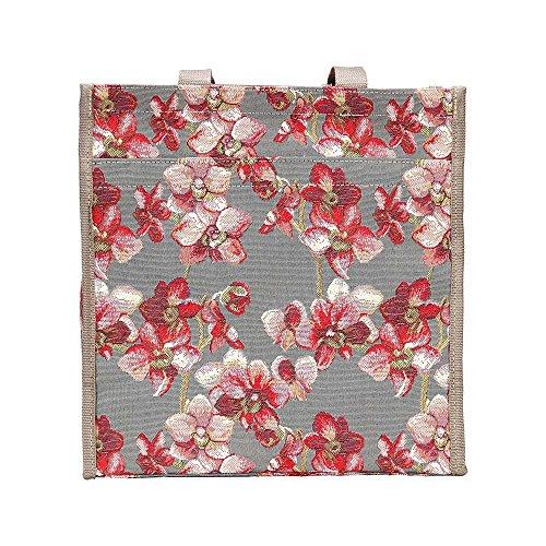 Signare modieuze tapijt, shopping, schoudertas voor vrouwen, bloem