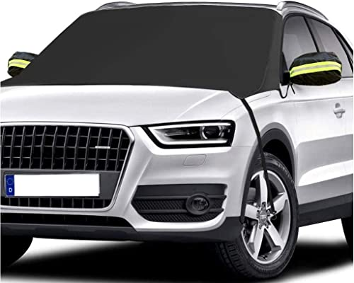 AUTOCLUB Car Windshield Snow Cover,3-Layer Protection&Double Side Design,Snow, Ice, Frost,UV Full Protection,Extra La...