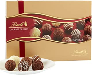Lindt LINDOR Assorted Chocolate Gourmet Truffles, Gift Box, Kosher, Great for Holiday Gifting, 7.3 Ounce