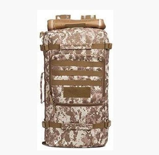 40L Imperméable à L'eau Multifonctionnel Tactique De Plein Air Sac à Dos Camouflage Camping Mountaineebague sac,DesertCamouflage