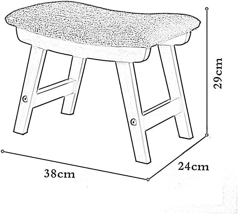 DX / Petit siège/Fauteuil à Langer, Design de Surface incurvée/Coton et Lin rembourrés/Pieds en Bois, pour Dressing/Salle d'étude/Salon/Salle à Manger, 5 Couleurs B