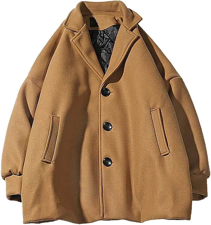 Cotton Coat Instagram Winter Student Coat Jacket Warm Button Jacket (color   Khaki, Size   M)