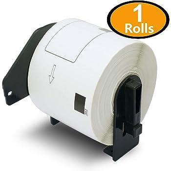 5 ROLLEN ETIKETTEN 62mm x 30.48m STANDARD für BROTHER P-touch QL-570
