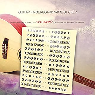 Forfar Guitar Bass Fretboard Guitar Neck Fretboard Note Map Fret Sticker Lables Decals Learn Fingerboard Accessories