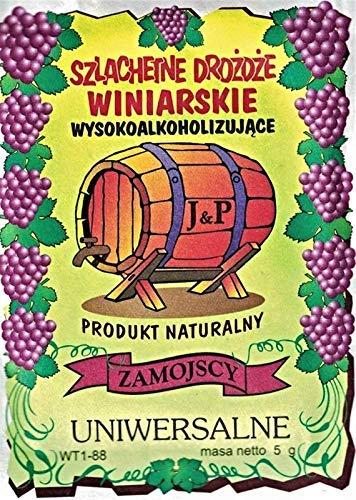 Hugbert Weinhefe, Nährstoff Klärungsmittel für Wein, Universal, 100% natürlisches Produkt Gärhefe, 5 Stück