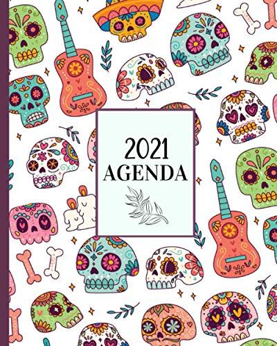 Agenda 2021: Planificador de Calaveras, Semanal/ Mensual+...