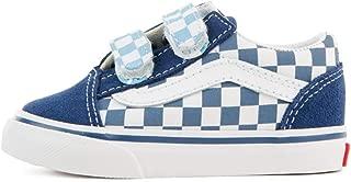 Vans Old Skool V (Checkerboard) True Navy/Bonnie Blue