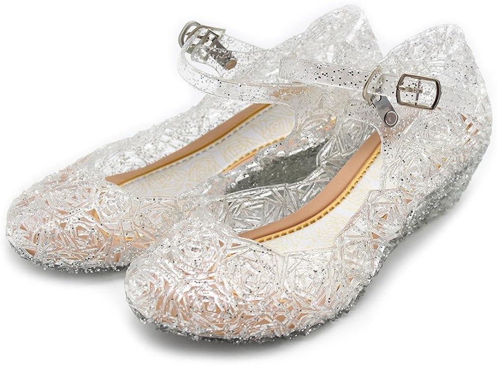 Girls High Wedge Heels Toddler Dress up Shoes Princess Crystal Jelly Sandals Toddler//Little Kid//Big Kid