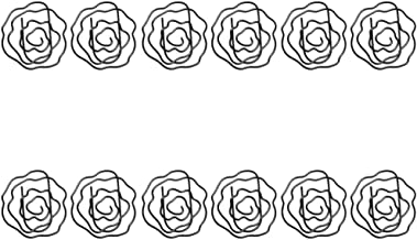 TOYANDONA 12 Stks Kleine Paperclips Rose Paperclips Bladwijzer Clips Metalen Paperclips Markering Clips Voor Kantoor Schoo...