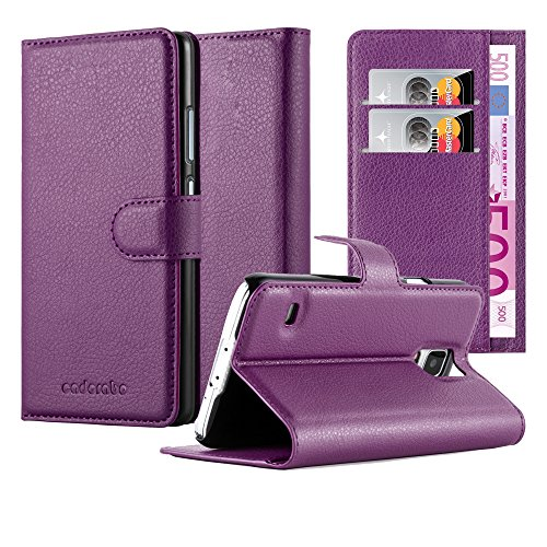 Cadorabo Custodia Libro per Samsung Galaxy S5 / S5 NEO in VIOLETTA AMETISTA - con Vani di Carte, Funzione Stand e Chiusura Magnetica - Portafoglio Cover Case Wallet Book Etui Protezione
