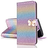 Xifanzi Wallet PU Leather Case for Galaxy J3 2017 Rainbow