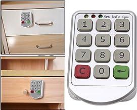 Cerradura Electrónica de Gabinete, Cerradura Inteligente Cerradura de código de Puerta de gabinete con Panel de Plástico ABS para el Bloqueo del gabinete de Almacenamiento público o Privado