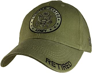 Eagle Crest U.S. Army Retired Distressed Green Baseball Cap Hat