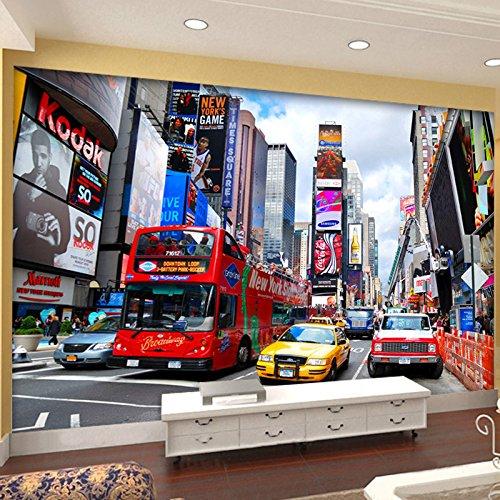Aangepaste foto behang bus New York tijden grote muurschildering TV achtergrond muur papier kantoor woonkamer slaapkamer 3D-behang