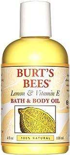 Burt's Bees 100% Natural Lemon and Vitamin E Body and Bath Oil - 4 Ounce Bottle