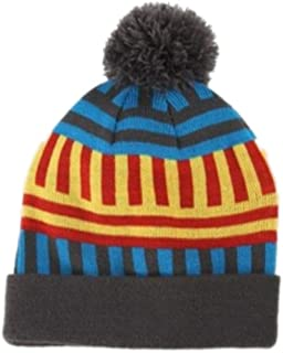 Aquarius Boys Knit Ribbed Twist Yarn Beanie with Solid Magic Glove