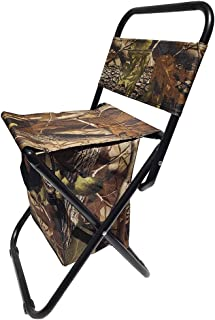 Domybest Outdoor Folding Chair Fishing Chair Seat Stool with Backrest Storag Bag