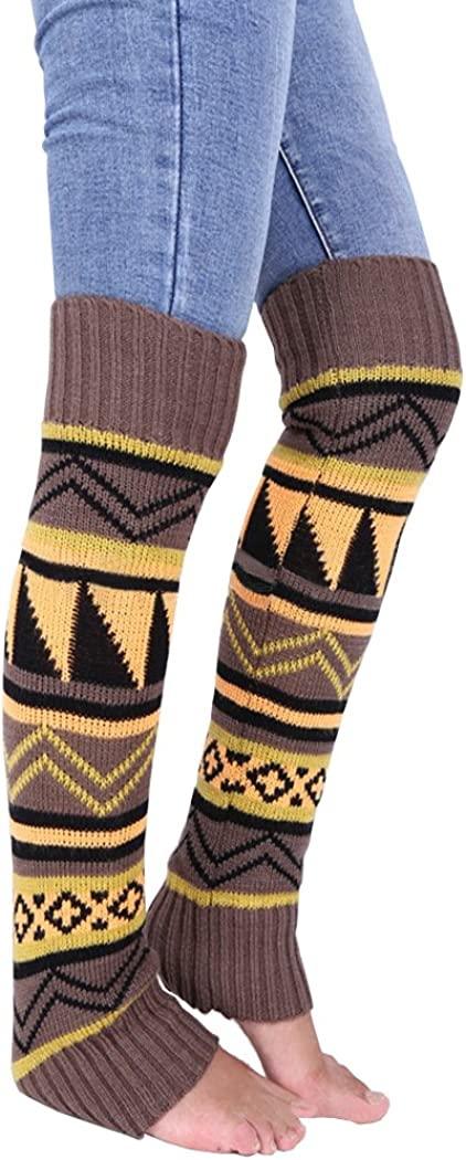 Anlaey Cable Knit Leg Warmers Knitted Crochet Boot Socks for Women