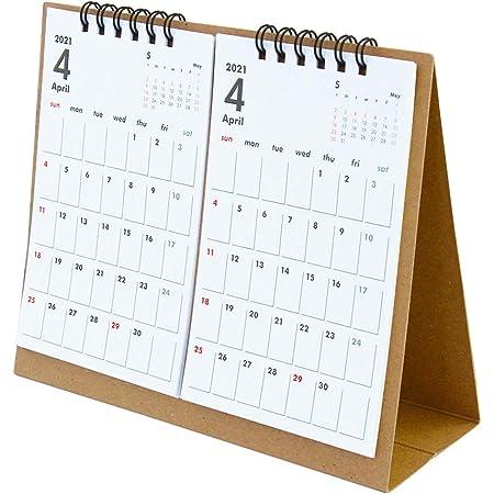 オーブ 2021年 カレンダー 4月始まり 卓上 2ヶ月 クラフト TMS-800KF