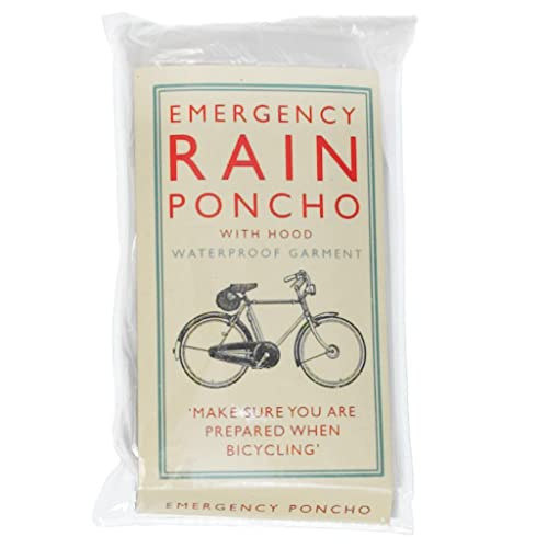 dotcomgiftshop Cyclists Emergency Rain Poncho - Bicycle Rider's Favourite