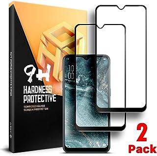 OPPO AX7全面保護ガラスフィルム iHOY OPPO AX7強化ガラスフィルム 高透過率 気泡ゼロ 全面フイルムカバー 6.2インチ 硬度9H 飛散防止 指紋防止 高感度タッチ