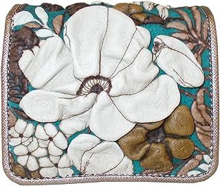 デコブランシェ decobranche Mini-Pre ミニプリ コンパクトサイズ 折財布 二つ折り財布 Dy-01-02 日本製 国産 (ターコイズ)