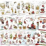 HOWAF 32 Tarjetas de Navidad, Tarjetas de felicitación Navidad Tarjetas navideñas con Sobres, 32 Modelos, Gran para Hombres y Mujeres
