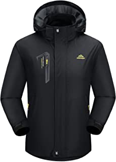 BIYLACLESEN Men's Hooded Windbreaker Lightweight Soft Shell Hiking Jacket Windproof Water Resistant Raincoat
