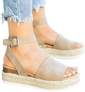 a56e1a882a611 Amazon.com: wedge strap sandals for women - 4 Stars & Up / Women ...