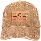 W-Fen Sombrero de Jeans Logotipo de BSB Gorra de béisbol Gorra Deportiva Sombrero de Camionero Adulto Gorra de Malla