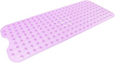 """DII Anti-Slip Non Slip Allergen-Free Extra-Long Mildew Resistent Vinyl Shower, Bathtub Mat 15.75x39"""" with Safety Grip Suct..."""