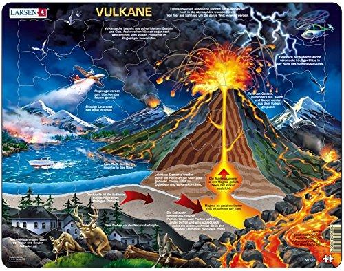 Larsen 7023852112816 Puzzle 70 Teile-Rahmenpuzzle-Vulkan