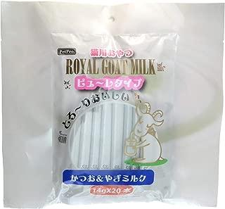 ペットプロ ロイヤルゴートミルク猫ピューレタイプ かつお&やぎミルク 14g×20本