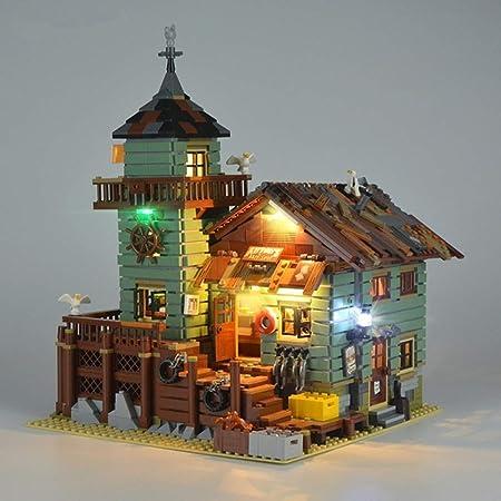 Licht Beleuchtung Set Für Creator Alte Fischerei Shop Reisemobil Modell Kompatibel Mit Lego 21310 Bausteine Spielzeug Nicht Das Modell Set Spielzeug