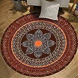 M-YN Alfombra Salón Alfombra Redonda Alfombra de Piso - Color Indio Estilo étnico Vintage - Dormitorio Persa Iraní Turco Turco Marruecos (Color : A, Size : 200cm)